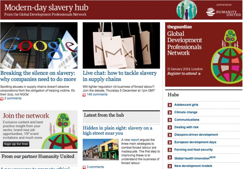 Ending Modern Day Slavery, the global reputation of a cause