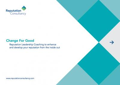 Reputation Consultancy Change for Good Brochure